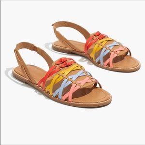 Madewell Huarache Flat Sandal Size 7.5